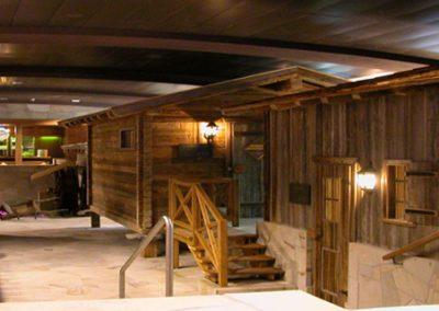 Walliser alpentherme saunalandschap