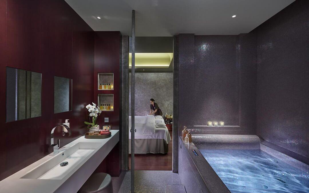 Serene spa in het luxe winkelgebied van Parijs