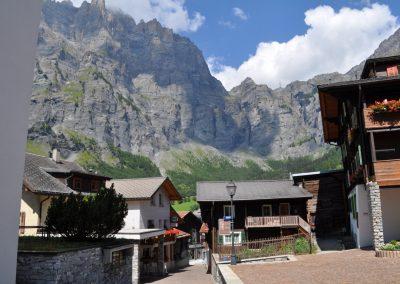Leukerbad dorp Zwitserland