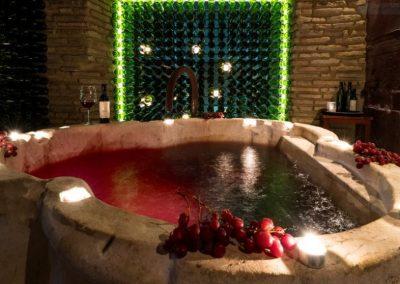 Baden in rode wijn