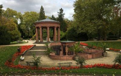 De geneeskrachtige bronnen in Kurpark Bad Homburg